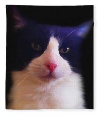 Sylvester Tuxedo Cat Fleece Blanket
