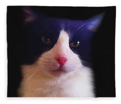 Sylvester Tuxedo Cat Fleece Blanket