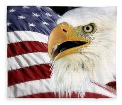Symbol Of America Fleece Blanket