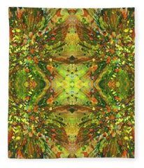 Symmetrical Reflections Of The Sound Waves #1385 Fleece Blanket