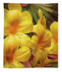 Synergistic Blooms 6 Fleece Blanket