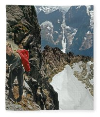 T-04403 Walt Buck Sellers On First Ascent Of Mt. Torment Fleece Blanket