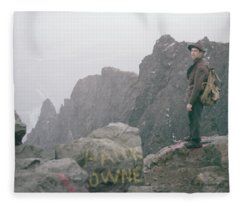 T-04701 Fred Beckey On Mt. Si 1958  Fleece Blanket