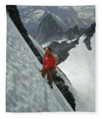 T-202707 Eric Bjornstad On Howser Peak Fleece Blanket