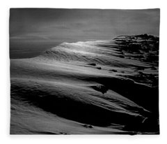 T-213312 Windblown Ice On Humphreys Peak Fleece Blanket