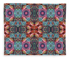 T J O D Mandala Series Puzzle 7 Arrangement 1 Multiplied Fleece Blanket