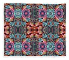 T J O D Mandala Series Puzzle 7 Arrangement 1 Multiplied Fleece Blanket