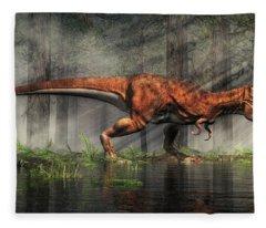 T-rex Fleece Blanket