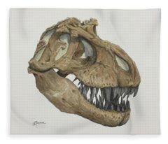 T. Rex Skull 2 Fleece Blanket