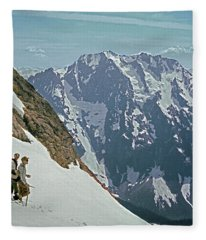 T04402 Beckey And Hieb After Forbidden Peak 1st Ascent Fleece Blanket