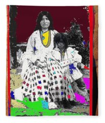 Ta-.ayz-slath Wife Of Geronimo And Child 1884 Or 1885-2008    Fleece Blanket