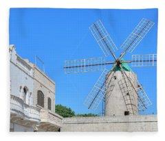 Ta Kola Windmill - Gozo Fleece Blanket