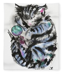 Tabby Dreams Fleece Blanket