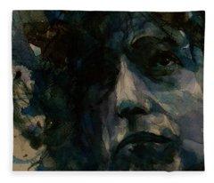 Tagged Up In Blue- Bob Dylan  Fleece Blanket