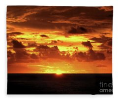 Tahitian Sunset Fleece Blanket