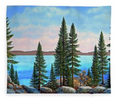 Tahoe Shore Fleece Blanket