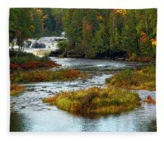 Tahquamenon Falls State Park Fleece Blanket