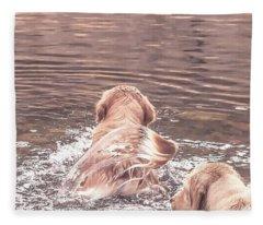Tail Flag Fleece Blanket