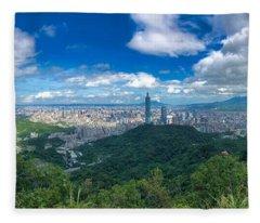 Taipei Panorama Fleece Blanket