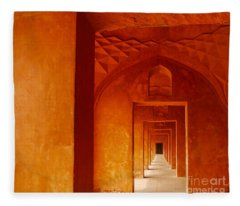 Doors Of India - Taj Mahal Fleece Blanket