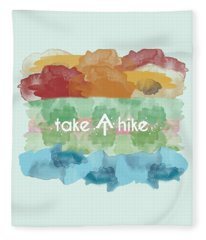 Take A Hike Appalachian Trail Fleece Blanket