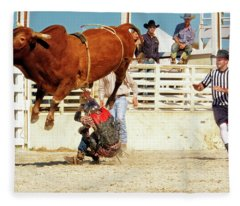 Take Cover - Bull Rider - Rodeo Fleece Blanket