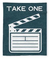 Take One- Art By Linda Woods Fleece Blanket