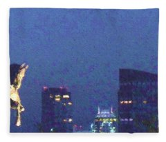Takin' On Boston Fleece Blanket