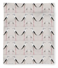 Tall Birds Pattern Fleece Blanket