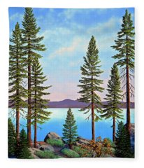 Tall Pines Of Lake Tahoe Fleece Blanket