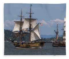 Tall Ships Square Off Fleece Blanket