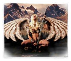 Talon Of The Hawk Woman Fleece Blanket