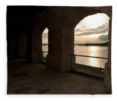 Tamar Estuary Sunset Fleece Blanket