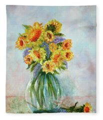 Tammy's Bouquet Fleece Blanket