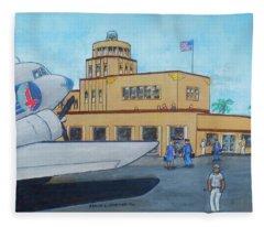 Tampa Davis Islands Airport Crew Change  Fleece Blanket