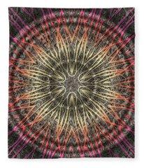 Tangendental Meditation Fleece Blanket