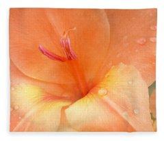 Tangerine Gladiola Fleece Blanket