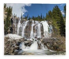 Tangle Falls In The Spring Fleece Blanket