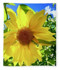 Tangled Sunflower Fleece Blanket