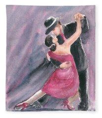 Tango Dancers Fleece Blanket