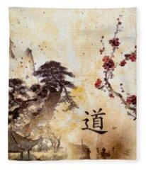 Tao Te Ching Fleece Blanket