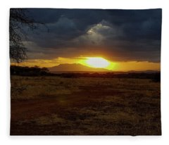 Tarangire Sunset Fleece Blanket