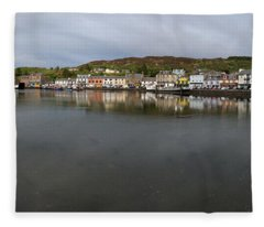 Tarbert Harbour - Panorama Fleece Blanket