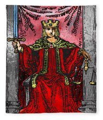 Tarot Gold Edition - Major Arcana - Justice Fleece Blanket