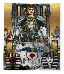 Tarot Gold Edition - Major Arcana - The Chariot Fleece Blanket