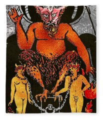 Tarot Gold Edition - Major Arcana - The Devil Fleece Blanket