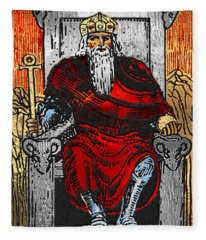 Tarot Gold Edition - Major Arcana - The Emperor Fleece Blanket