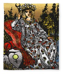 Tarot Gold Edition - Major Arcana - The Empress Fleece Blanket