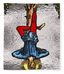 Tarot Gold Edition - Major Arcana - The Hanged Man Fleece Blanket