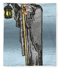 Tarot Gold Edition - Major Arcana - The Hermit Fleece Blanket